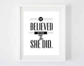 She Believed She Could - Art Print