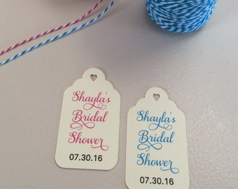 Wedding Shower Favor Tags - Custom Tags - Gift Tag - Bridal Shower Gift Tag - Wedding Shower Tags