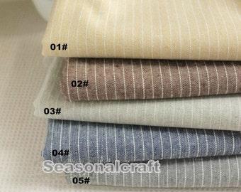 Cotton Linen Fabric for craft, 7mm Stripe linen fabric, diy fabric,garment accessory 1/2 yard (QT531)