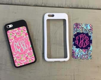 iPhone 5/5s Additional Plates ... Lilly Pulitzer inspired monogrammed Phone cover ... 3 Styles  ...Choose your print, frame and mono