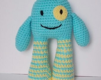 Charlie the friendly monster crochet toy