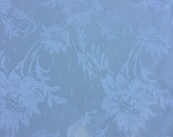 "Ivory floral brocade jacquard 100% cotton upholstery/drapery fabric 54"" wide sold by the yard"