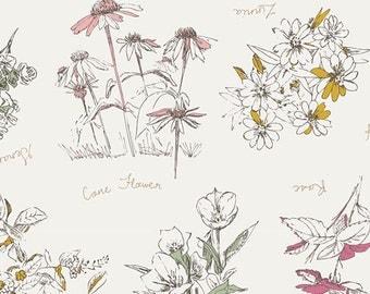Sketchbook by Sharon Holland for Art Gallery Fabrics - Botanical Impression (SBK-37209) - 1 yard