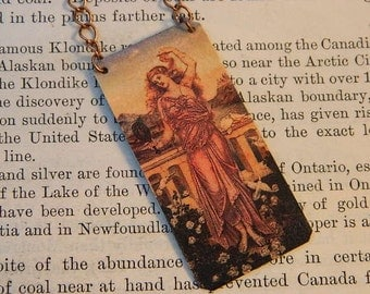 Art necklace Evelyn De Morgan mixed media jewelry art jewelry art necklace
