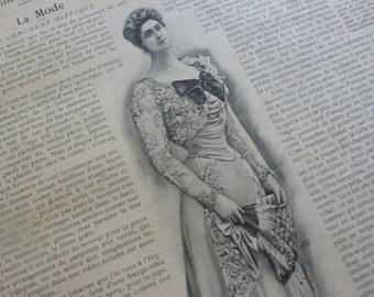 4 Victorian,  Art Nouveau Fashion Magazines French La Mode Pratique  Dated 1899