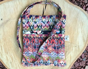 Crossbody Purse, Fabric Shoulder Purse, Sling Bag, Hipster bag