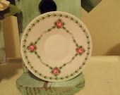 Vintage Seltmann Weidew Bavaria Pink Roses Saucer