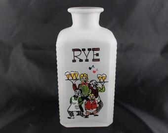 Gay Fad Studio Gay Nineties Frosted Rye Decanter