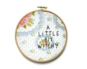 a little bit witchy embroidery hoop wall art