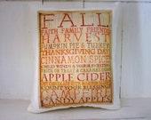50% CLEARANCE SALE Autumn pillow, fall pillow, burlap pillow, rustic burlap, decorative pillows, rustic autumn decor, rustic halloween,