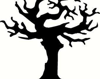 Halloween Tree Vinyl Decal