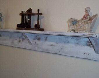 Wood Wall Shelf - Wood Shelves - Distressed Shelving
