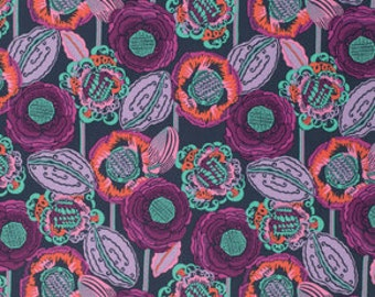 Bright Heart by Amy Butler for Free Spirit - Coco Bloom - Midnight - 1/2 yard Cotton Quilt Fabric 516