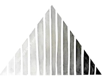 Featured by West Elm!  Ombre Triangle Geometric Painting /Print /  #geometric, #triangles #ombre #gradient #blackandwhite #art #westelm