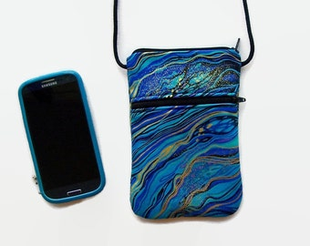 iPhone Case, Smartphone Hipster,  Cell Phone Purse, Cross Body Hipster, Small Purse