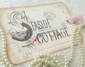 Wedding Favor Thank you tags-Shabby Chic Seaside Destination Wedding Gift tags-Set of 6