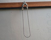 """Simple Small Stone burnish steel wallet chain 21"""""""