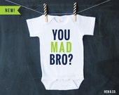 YOU MAD BRO? - Richard Sherman Bodysuit - Baby Football Bodysuit - Seahawks Baby Top
