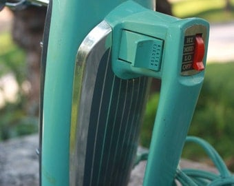 Vintage Turquoise Electric  Hand Mixer