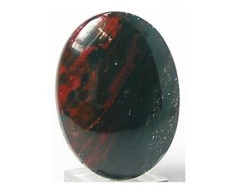 Bloodstone Agate Oval Calibrated Semi Precious Stone Cabochon  40 x 30 mm