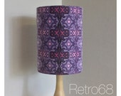 Lamp Shade Extra Tall Vintage Purple Psychedelic 70s Fabric