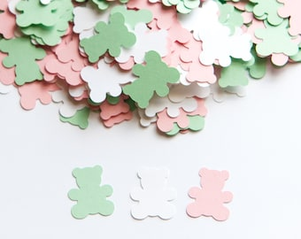 Teddy Bear Confetti -  Teddy Bear Baby Shower Theme - Light Pink and Mint Baby Shower Decorations