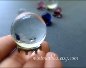 Magic Crystal Ball Miniature. Home Decor. Desk Totem. Fantasy. Spells. Wizards. Fortune Teller. Pink. Blue. Glass. Clear. Sphere. Magic.