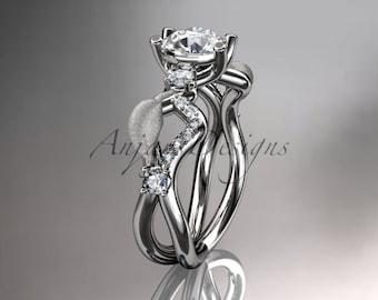 Vine Wedding Band Vine Wedding Ring Diamond Vine Band