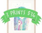 Bulk Discount: 3 Large Prints for 36 AUS Dollars