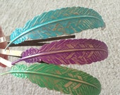 Metal Feather Headband - Feather Hair Jewelry - Hair Feathers - Colorful Feathers - Handmade Hair Headband - Bridesmaids Gifts - Feathers