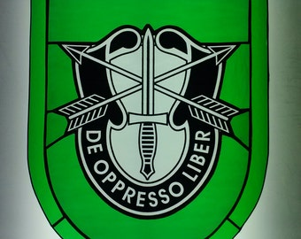 10th SPECIAL FORCES GROUP stained glass crest