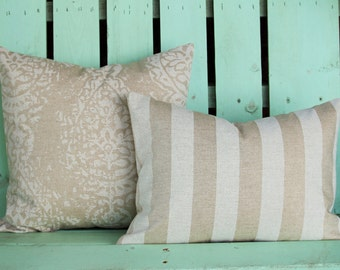 Set of 2  stripe Manchester  Premier  print- decorative pillow cover-accent pillow-gifts under 40-throw pillow