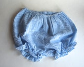 Retro Baby Diaper Covers, Classic Blue and White Check
