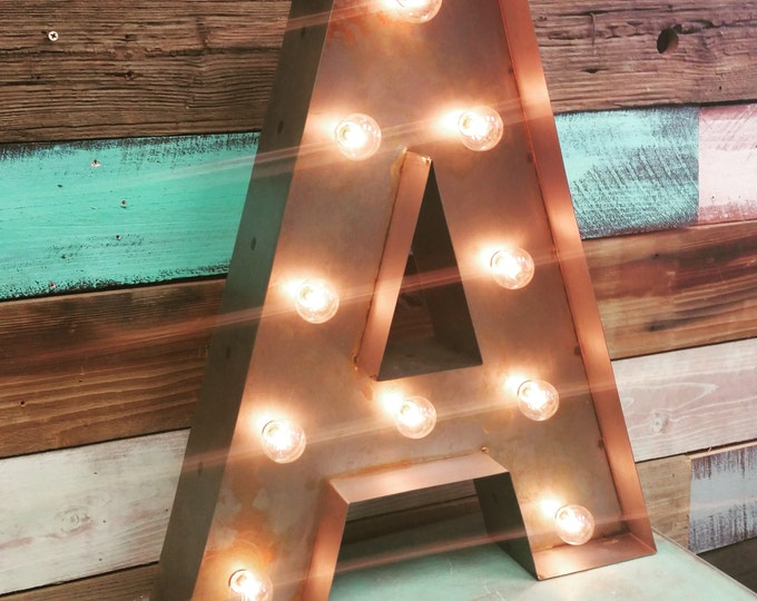 Lighted Letter Marquee Metal Steel........... A B C D E F G H I J K L M N O P Q R S T U V W X Y Z