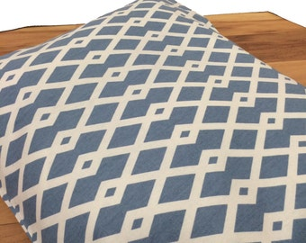Geometric Dog Crate Mat Cover, Dog Bed Cover, Cat Bed Cover, Modern Pet Bed, Blue Gray Geometric pet bed