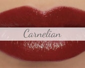 "Vegan Lipstick Sample - ""Carnelian"" (natural soft red color) lip tint, balm, lip colour, natural lipstick"