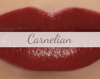 "Vegan Lipstick Sample - ""Carnelian"" (natural soft red color) lip tint, balm, lip colour, natural lipstick"