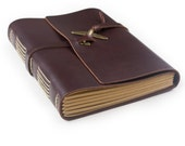 Vintage Leather Journal Diary with Vintage Airplane Charm A5 Blank Lined Craft Paper Dark Coffee Gift