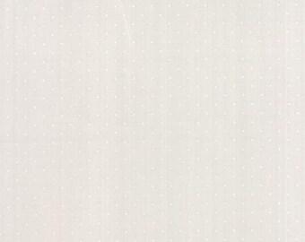 Modern BG Paper   Pin Dots White Fog 1588 22  by Zen Chic for Moda