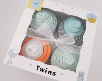 Twin Boy Baby Gift 12 piece set  - Fox Twins Gift