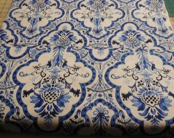 Toujours Bleu - Michael Miller Fabric 1 1/2 Yards
