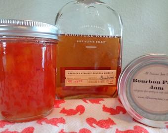 Southern Delight times 2!  Bourbon Peach Jam       Fresh Gift   8 oz mason jar