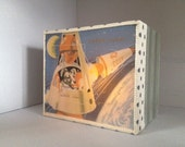 Mini Light Box Ornament with vintage illustration of Dog in Space