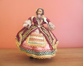 Lenci Type Cloth Doll with Elaborate Costume  Vintage and Rare