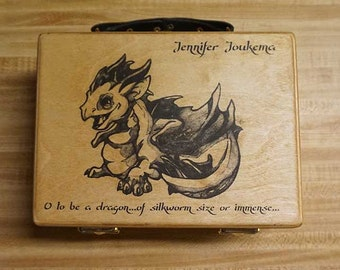 Custom Image applied to one of our Wooden Deck boxes for Magic the Gathering Pokemon Netrunner Net Runner