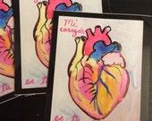 Mi corazon sticker