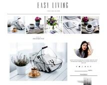 SALE!!  Responsive Blogger Template - Easy Living - Premade Blogger - Blogspot Template - Instant Download