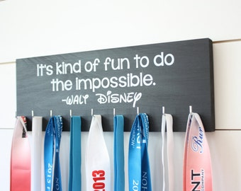 Disney Medal Holder - It's kind of fun to do the impossible. - Medium - Walt Disney Quote
