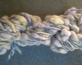 Handspun Yarn: Super Coils and Beehives in Pale Green and Light Lavender