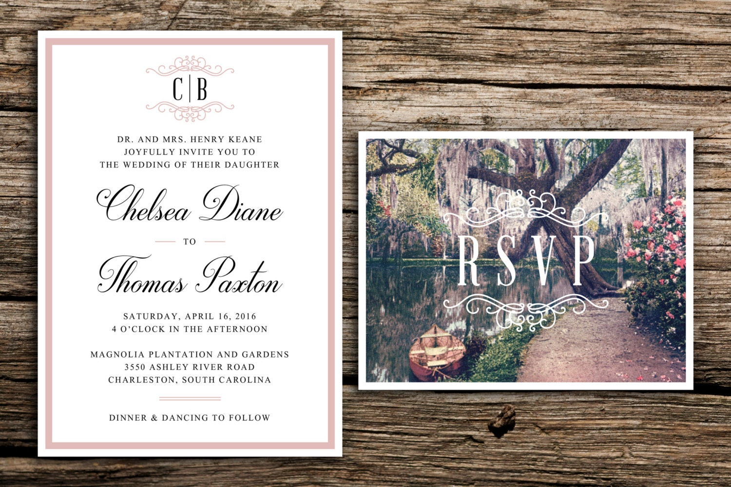 Garden Wedding Invitations: Southern Gardens Wedding Invitation // Charleston Garden